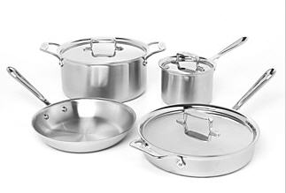 all clad d5 cookware 7 piece